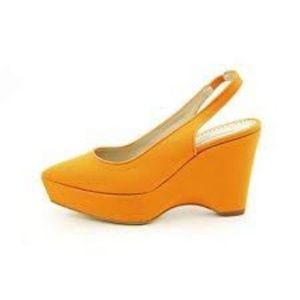 Stella McCartney Scarpa Tess Heels Wedges Pumpkin